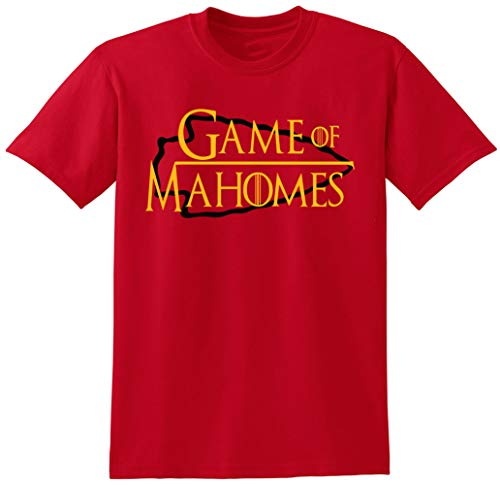 RED Kansas City Mahomes Game of T-Shirt Adult (Adult Hunt T-shirt)