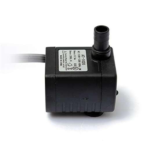 Styrene Plug - 110V 200L/H 3W Aquarium Water Pump Submersible Fountain Air Fish Tank US Plug