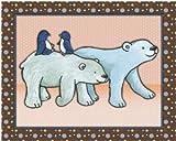 """Noah's Ark and Jungle Animal Nursery Art Prints (11""""x14"""", Polar Bears)"""