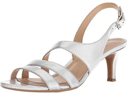 Naturalizer Women's Taimi Silver Pearl Grid 9.5 M US M (B) ()