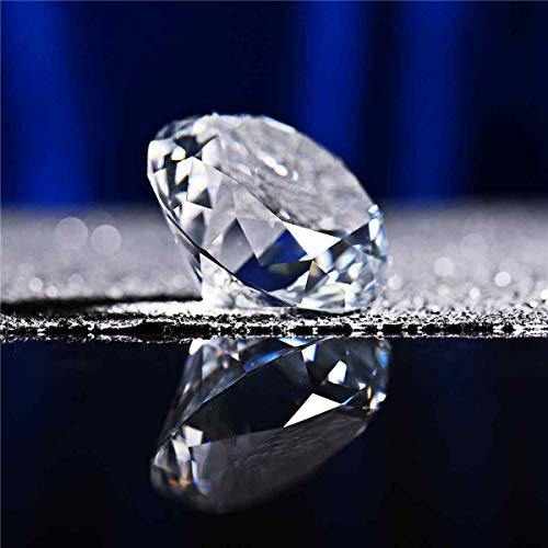 TOYECOTA - 60mm Transparent Big K9 Crystal Diamond Glass Home Art Paperweight Craft Gem Decor Wedding Ornament Feng Shui Collection Gift