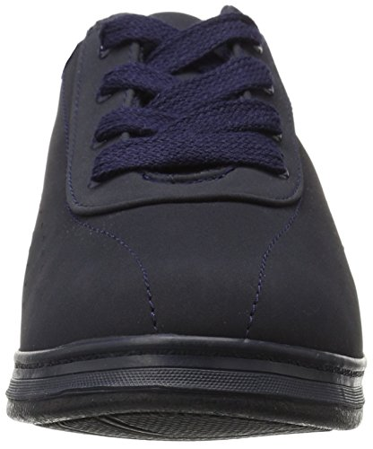 Grasshoppers Women's Avery Sneaker, White Stretch Smooth, US Navy