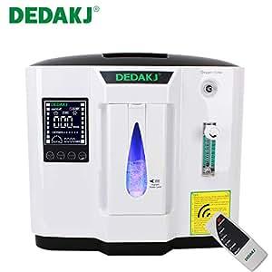DEDAKJ 1-6L/min Adjustable Oxygen Machine Accessories with Oxygen Tubing, 110V