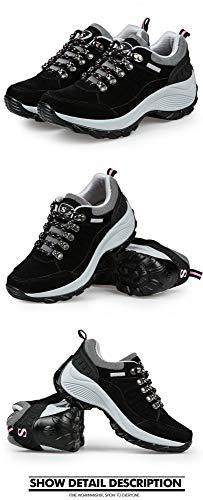 Comode nero Dondolo Suole Con Scarpe Stringate Sneakers Potenziate Sneakers Invernali A Scarpe sho Outdoor Spesse casual twAqHZIH