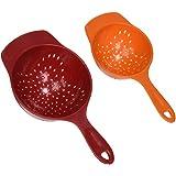 Farberware Classic Mini Colanders (Set of 2), Red and Orange