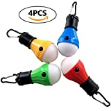 LED Tent Lights 4 Pack Portable Camping Light Lamp Tent Lantern Bulb for Hurricane Emergency Backpacking Hiking Outdoor and Indoor, Battery Powered for Power Outage