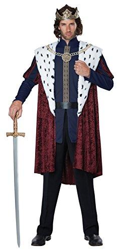 California Costumes Men's Royal Storybook King Adult Man Costume, Multi, -