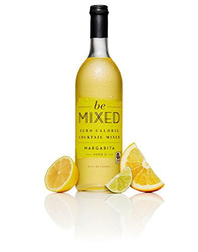 Zero Calorie Margarita Cocktail Mixer by Be Mixed | Low Carb, Keto Friendly, Sugar Free and Gluten Free Drink Mix | 25 ounce Glass Bottle, 1 Count Blueberry Leaf Organic Alcohol