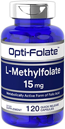 Opti-Folate L-Methylfolate 15 mg (120 Capsules) | Optimized and Activated | Max Potency, Value Size | Non-GMO, Gluten Free | Methyl Folate, 5-MTHF