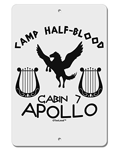 TooLoud Cabin 7 Apollo Camp Half Blood Aluminum 8 x 12 Sign
