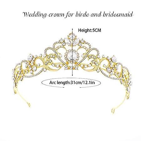 Tiara de boda Simly para novia coronas de flores para mujer HG-23