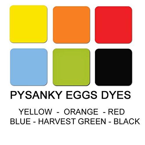 Set of 6 Batik Dyes for Easter Egg Pysanky Decorating
