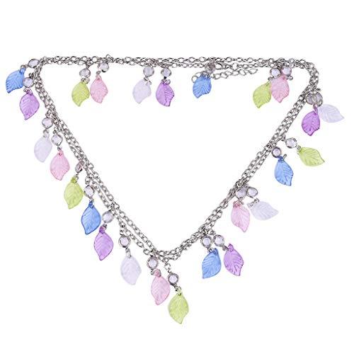 Gleamfut Women's Double-Layer Crystal Star Bracelet Pendant Personality Charm Bracelet Jewelry