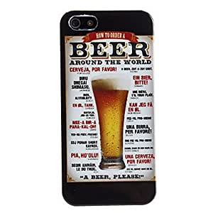 Beer Style Protective Hard Case for iPhone 5/5S