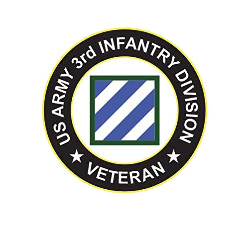 ION Graphics US Army 3rd Infantry Division Veteran Patch Sticker Decal Vinyl Rock of Marne 5
