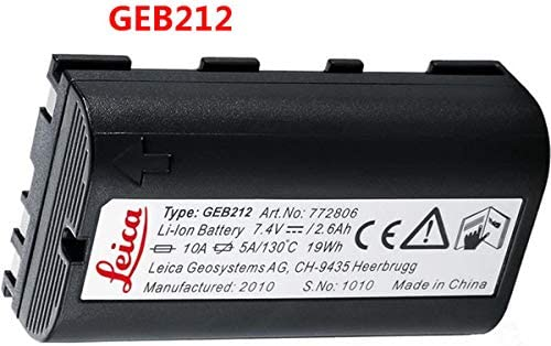Replacement Battery of GEB212 for Leica TPS1200 series Total Station