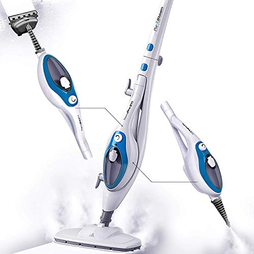 Steam Mop Cleaner ThermaPro 10-in-1 with Convenient Detachable Handheld Unit, Laminate/Hardwood/Tiles/Carpet Kitchen - Garment - Clothes - Pet Friendly Steamer Whole House Multipurpose Use by PurSteam ()