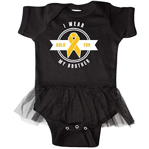 inktastic - Childhood Cancer Awareness Infant Tutu Bodysuit 6 Months Black 32167 ()
