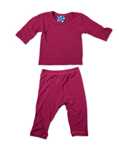 KicKee Pants Long Sleeved Pajama Set, Orchid, 18 24 Months by Kickee Pants