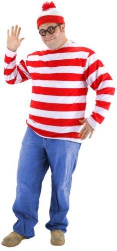 [Where's Waldo Costume - XX-Large - Chest Size 50-52] (Wheres Waldo Girl Halloween Costume)