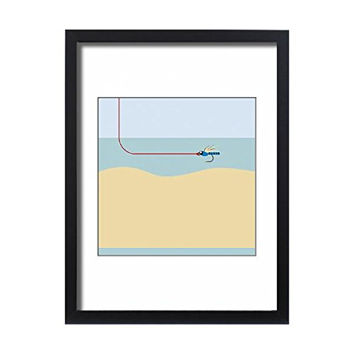 Single Salmon Fly (Media Storehouse Framed 24x18 Print of Digital illustration of single-fly rig used in salmon fishing (13551875))