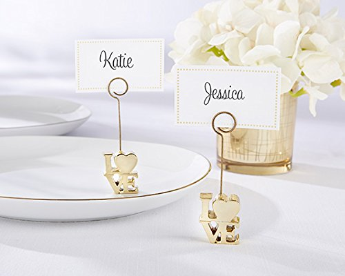 54 LOVE Gold Place Card Holders by Kateaspen