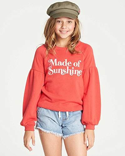 (Billabong Girls' Big Full Bloom Sweatshirt, Sunset red XS)
