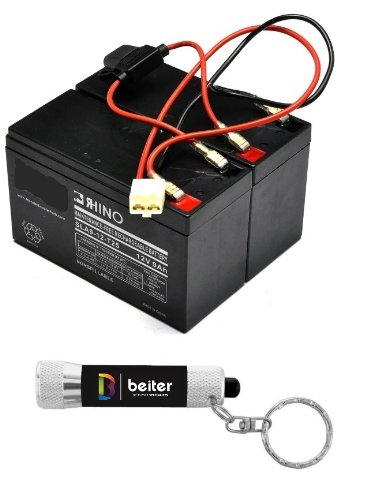 Dune buggy Razor Battery Replacement - Includes Wiring Harness (8 ah capacity - 24 volt system) by Vici Battery™ (Razor Dune Buggy)