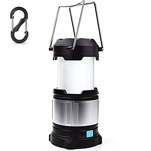 Alcoon Rechargeable LED Camping Lantern Light Lamp with 5600mAh Power Bank, Portable Collapsible Waterproof Outdoor Light with 18650 Li-ion Batteries for Camping Traveling Tent, Emergency, (Dual Lanterns)