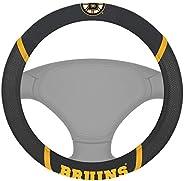 "Fanmats 14842 NHL Boston Bruins Polyester Steering Wheel Cover 15"""