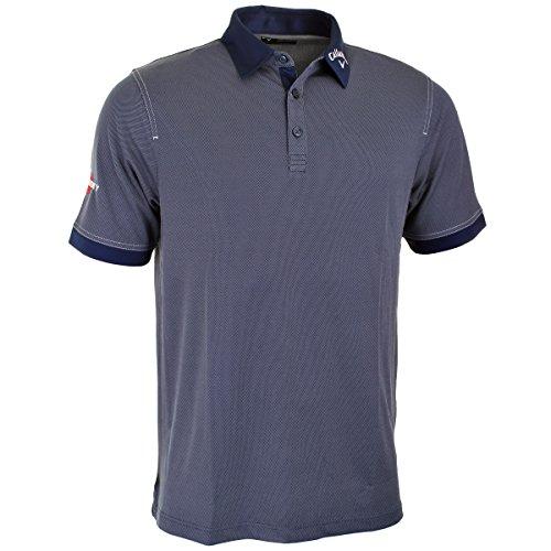 Callaway Golf Men's Hawkeye Odyssey Polo Shirt - L - Mood Indigo