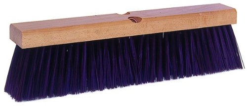 Weiler 42026 Polypropylene Garage Brush with Wet Or Dry Sweeping, 2-1/2'' Head Width, 24'' Overall Length, Maroon