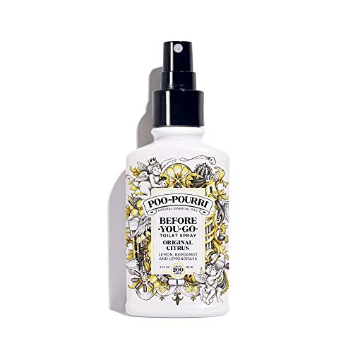 Air Gel Dispenser - Poo-Pourri Before-You-Go Toilet Spray 4 oz Bottle, Original Citrus Scent