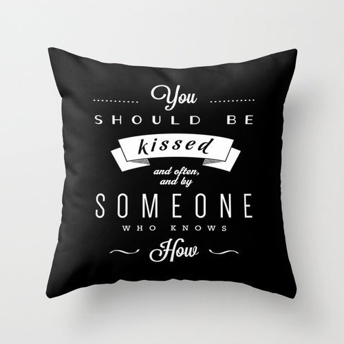 You should be kissed Pillowcase Gone with the wind quote Valentine's gift Valentine's pillow cover Love cushion cover Love pillowcase Love throw pillow cover - Gift Vouchers Tiffany