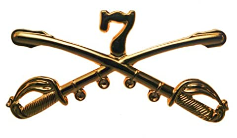 US Army 7th Cavalry Crossed Sabres pin