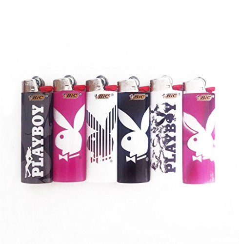 New Bic Playboy Bunny Lighter Cute (Pack of 6) (New Playboy Bunny)