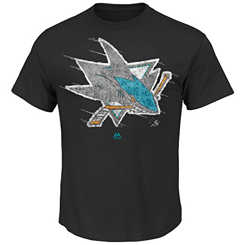NHL San Jose Sharks Men's Pond Hockey Tee, Black, Medium
