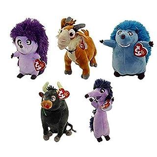 TY Beanie Babies - Ferdinand Movie SET of 5 (6 inch) (Una, Lupe, Dos, Cuatro & Ferdinand)