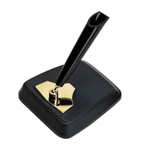 - Platinum Desk Pen Stand - Single Pen - Black