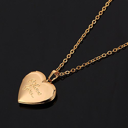 Heart shaped platinum or 18k gold plated i love you for L love jewelry reviews