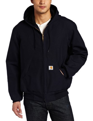Carhartt Men's Big & Tall Thermal Lined Duck Active Jacket J131,Dark Navy,Large Tall