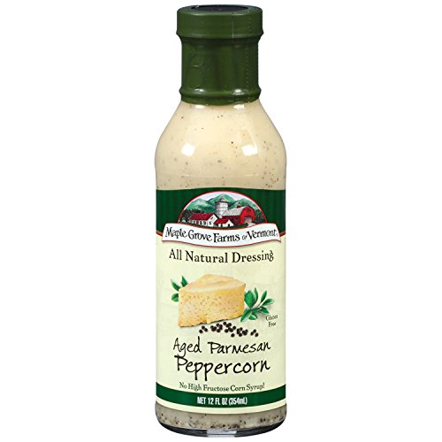 Maple Grove Farms Salad Dressing, Aged Parmesan Peppercorn, 12 Ounce (Parmesan Salad Dressing)