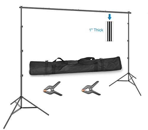 (Emart 10 x 12ft (H X W) Photo Backdrop Stand Kit, Adjustable Photography Video Studio Background Stand Support System for Photo Booth Muslin)