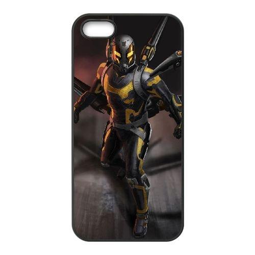 Ant Man Yellowjacket Mobile1 coque iPhone 5 5S cellulaire cas coque de téléphone cas téléphone cellulaire noir couvercle EOKXLLNCD21691