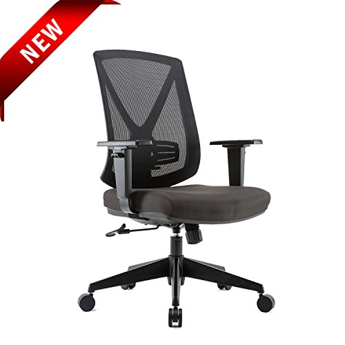 Ergonomic High Mesh Swivel Desk Chair with Adjustable Height, Arm Rest, Lumbar Support and Upholstered Back for Home (Not Upholstered Office Chairs)