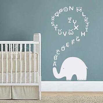 Amazoncom Elephant Wall Decal Alphabet Elephant Vinyl Wall Art - Vinyl wall decals alphabet
