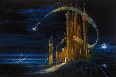 Castle Fine Art Print by Peter and Harrison Ellenshaw featuring Tinkerbell (Peters Castle)