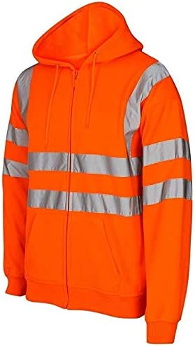 Reflective Band Hoodies Inspire Me Hi Vis Visibility Safety Work Hoodie 2 Tone and Plain Jumper Hoody TOP Pollover or Zip