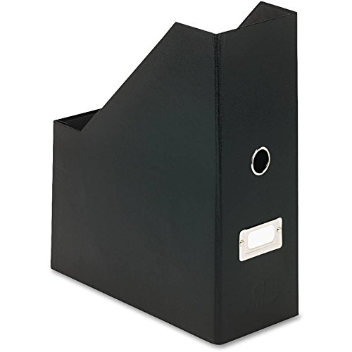 Snap-N-Store Jumbo Magazine File Box, Black Fiberboard with Content Label Holder, 4.50 Inches Width x 11.25 Inches Depth (SNS01637) (Magazine File Box)