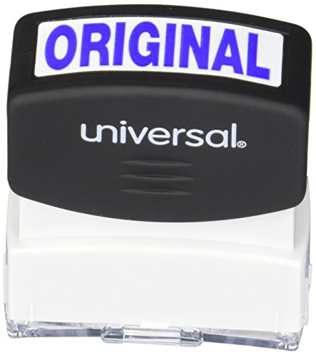 Universal 10060 Message Stamp, Original, Pre-Inked One-Color, Blue